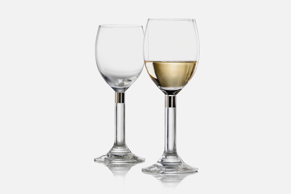 Hvidvinsglas - 2 stk, 32 cl Glas og stålDesign by Erik BaggerArt. nr.: 52207