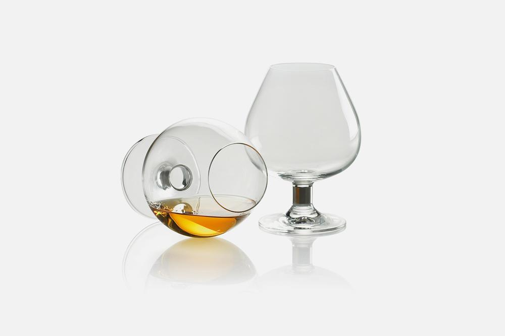 Cognacglas - 2 stk, 56 cl Glas og stålDesign by Erik BaggerArt. nr.: 50119
