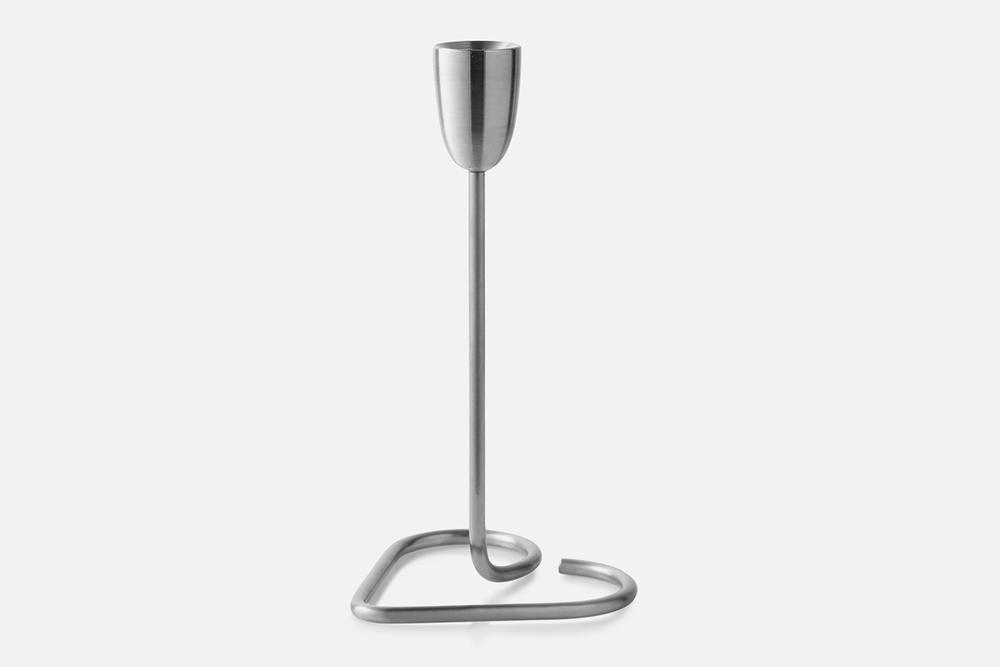 Cohesion lysestage - 1 stk, 15cmBørstet stålDesign by Andreas HansenArt. nr.: 80501