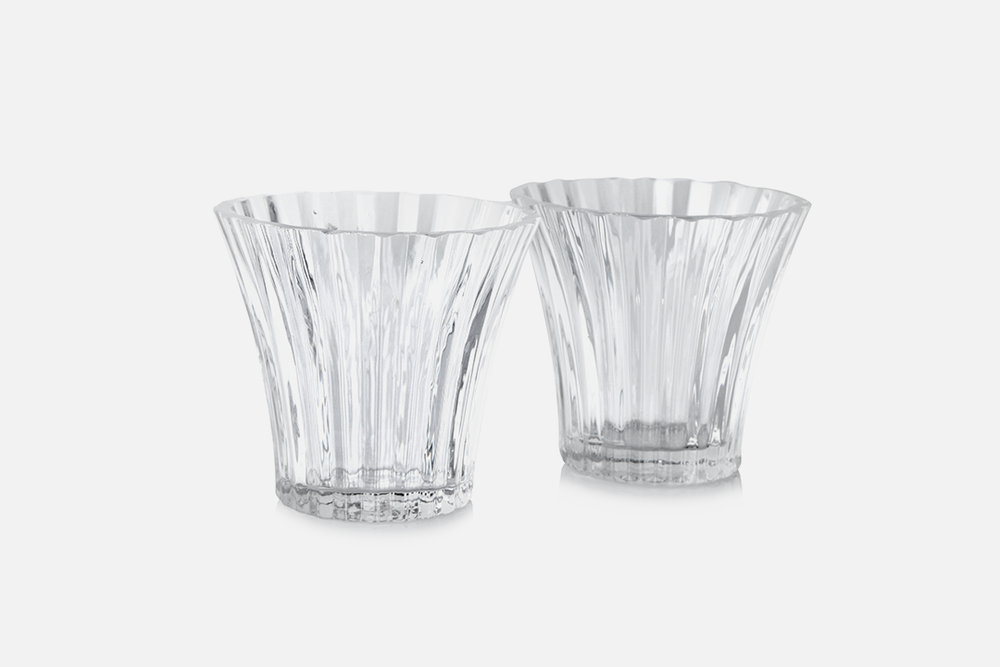 Tealight holders  - 2 pcs, 8 cmGlass, clearDesign by Christel og Christer HolmgrenArt. no.: 55211