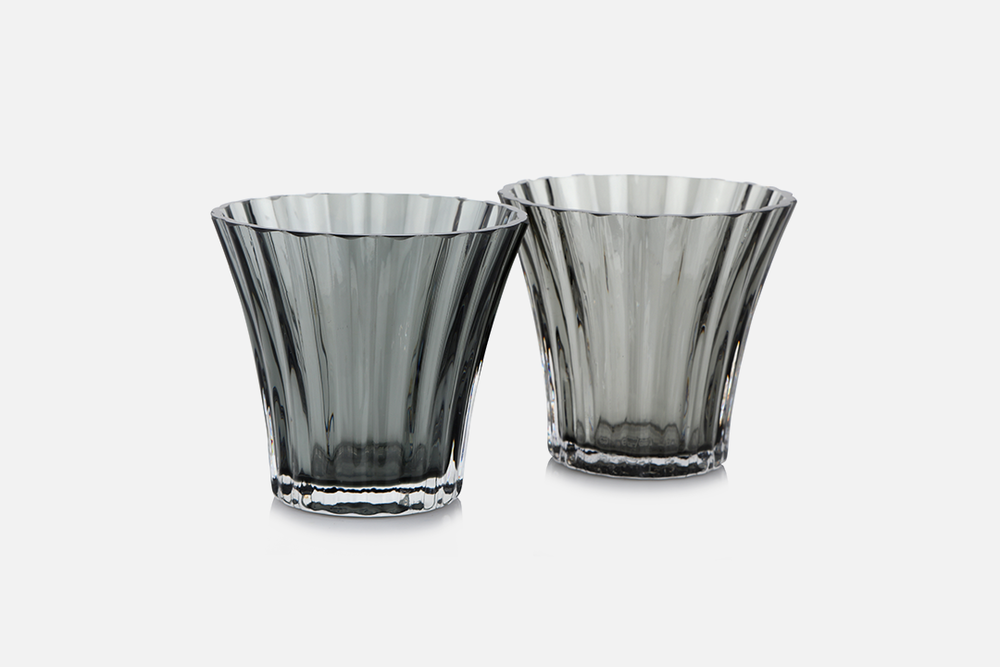 Tealight holders - 2 pcs, 8 cmGlass, greyDesign by Christel og Christer HolmgrenArt. no.: 55211