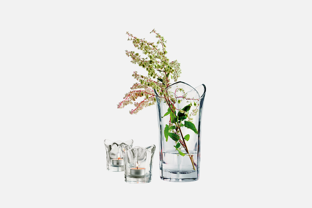 Nature gift set - 1 vase + 2 tealight candle holdersGlassDesign by Erik BaggerArt. no.: 54303