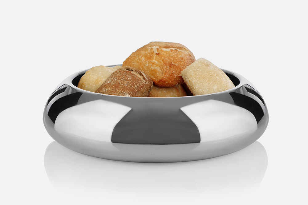 Timeless brødskål - 1 stk, 30 cmRustfrit stål og tekstilDesign by Marlene BrønnumArt. nr.: 80400