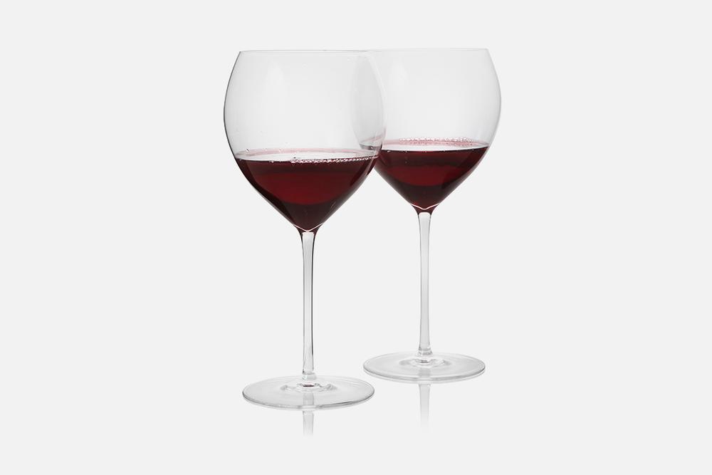 Burgundy glass - 2 pcs, 70 clGlassDesign by eb design teamArt. no.: 90224