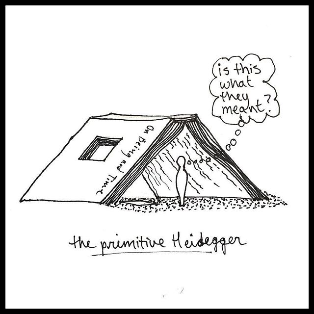 """The primitive Heidegger"" by Katie Stege, pulp 48"