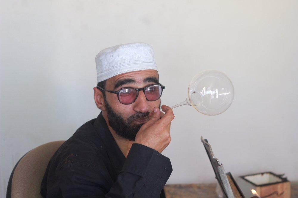 A glassblower in Jib.