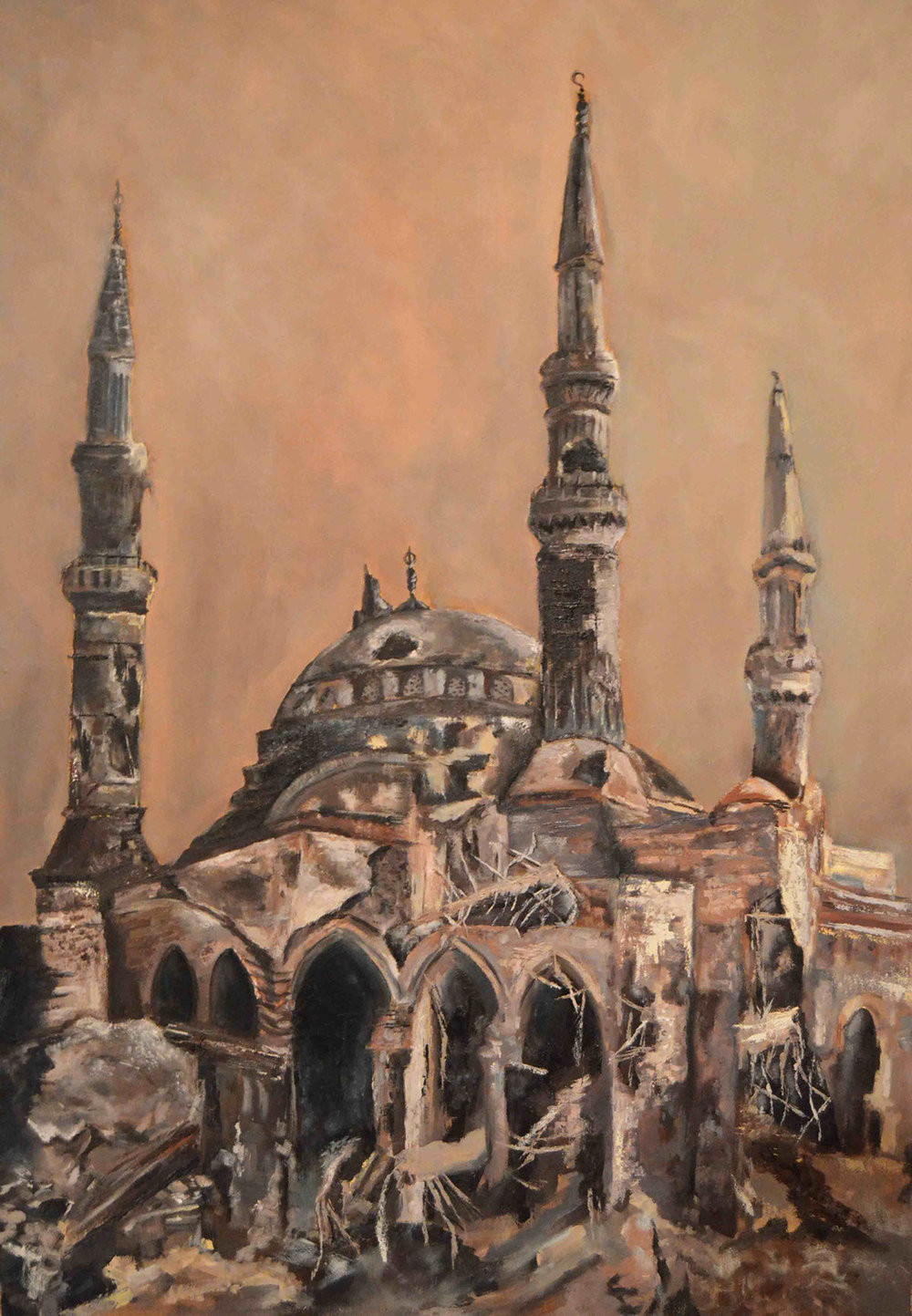 Apocalyptic City series The Blue Mosque, 2017