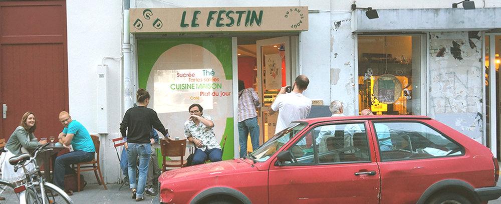 Multiple D-fonds,  pop-up restaurant in Paris, 2013
