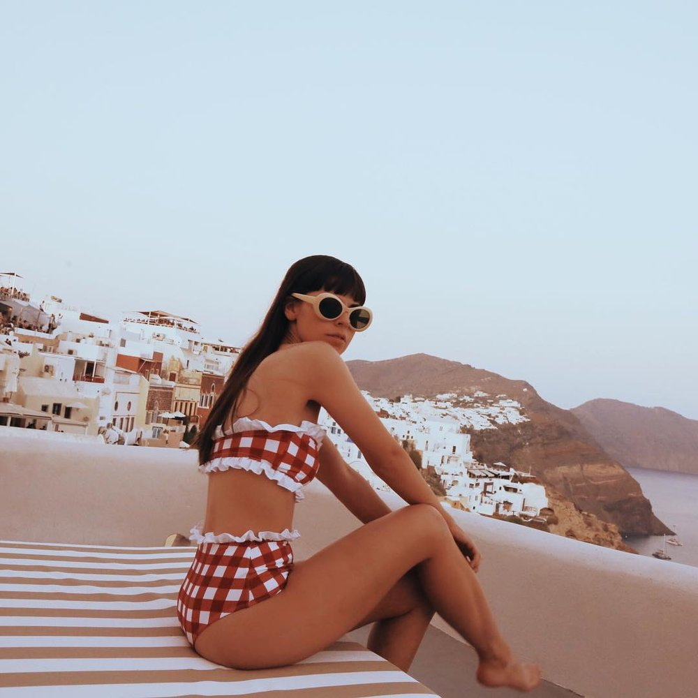 17/ Dream destination: Santorini - Stayed at picturesque Oia, Santorini in our little cave house. Our view was just so beautiful. Everything about this island is insta-worthy!