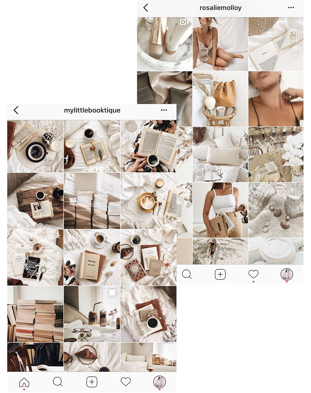 4/ Match your whites - Take a look at the white tones in your photos and compare them in your planning stage. You can create a consistent theme by making sure all the white tones match each other.
