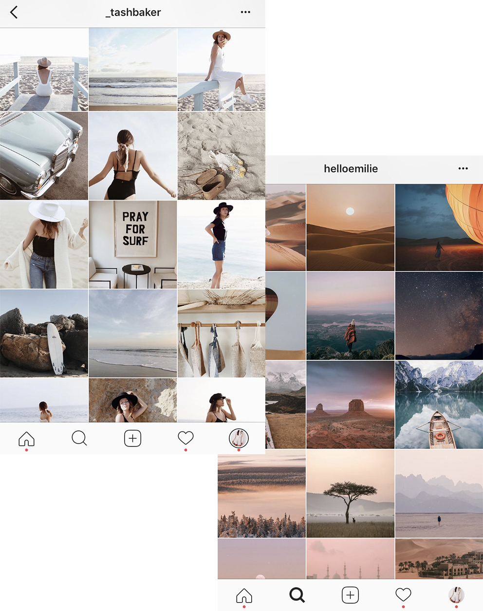 5/ Use Negative Space - Negative space is the space that surrounds your main subject. Increase this space in your photos or alternate negative space images with close ones in your planning app. This gives your feed a fresh, less cluttered look.