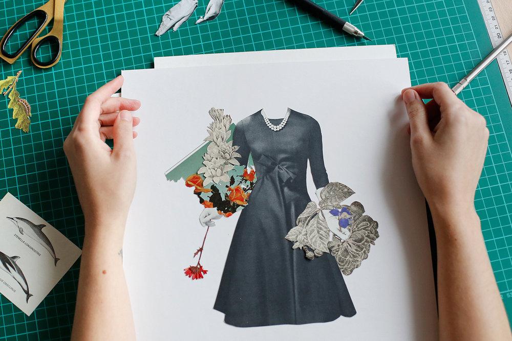 ARANTXA RUEDA www.arantxarueda.com              Www.instagram.com/arantxarueda/ @ArantxaRueda Estic especialitzada en el collage analògic. Els meus collages es basen en: concepte, recerca del material, tipus de tall i tipus d'enganxar.