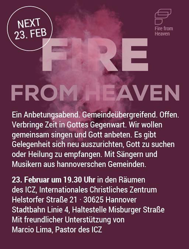 Christus-Gemeinde Hannover - Fire From Heaven.png