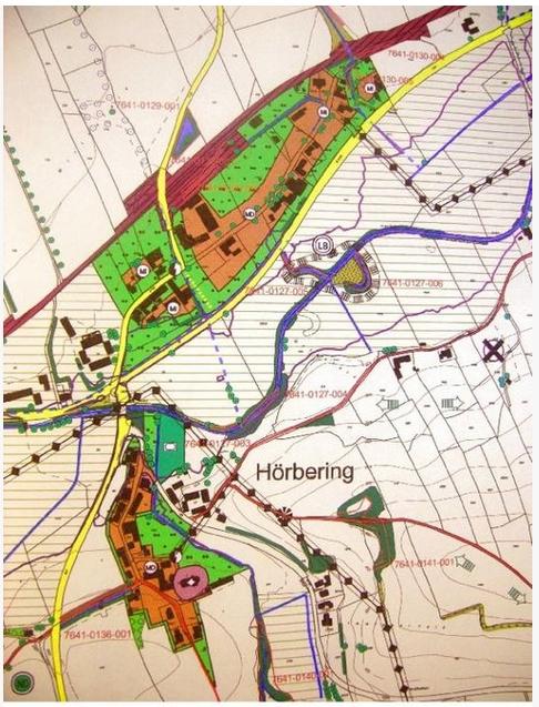 Ausschnitt aus Flächennutzungsplan mit integriertem Landschaftsplan