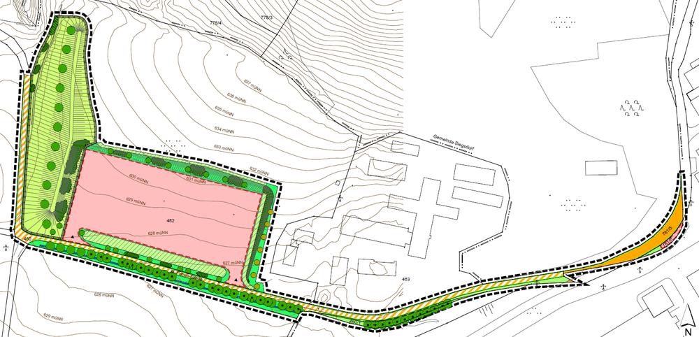 Bebauungsplan (Sondergebiet) mit integriertem Grünordnungsplan