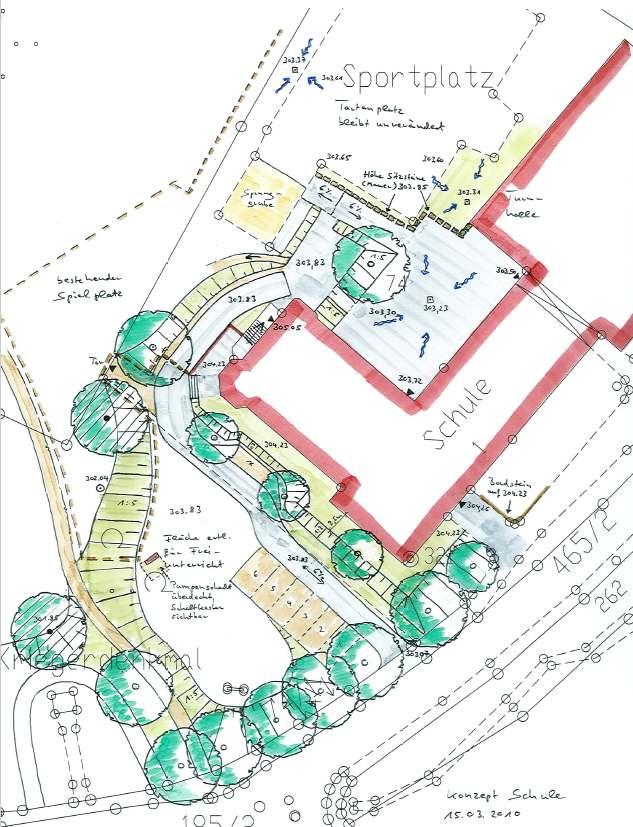 Umgestaltung Schulumfeld im Zuge Hochwasserschutzmaßnahme