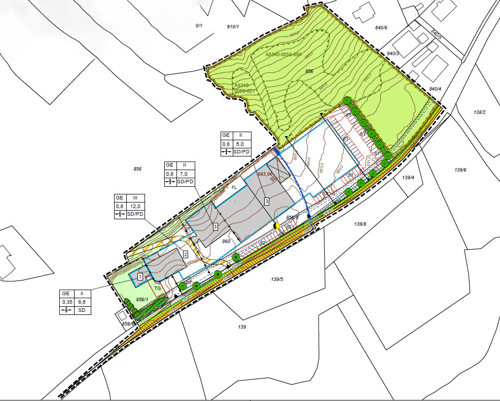 Bebauungsplan (Gewerbegebiet) mit integriertem Grünordnungsplan