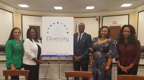 """Bonnie Jenkins, President of WCAPS, joining a panel hosted by the House Diversity Initiative on """"Advancing Foreign Policy: Staying a Step Ahead."""""""