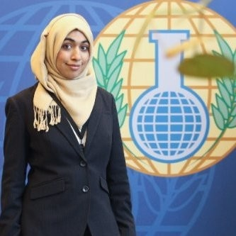 Wardah Amir - M.A., Security Policy Studies, The George Washington University (expected May 2019)B.S., Chemical Engineering, Texas A&M University at QatarProgram Assistant, Chemical Security Practice Area, CRDF GlobalCo-Chair, WCAPS CBRN Working Group