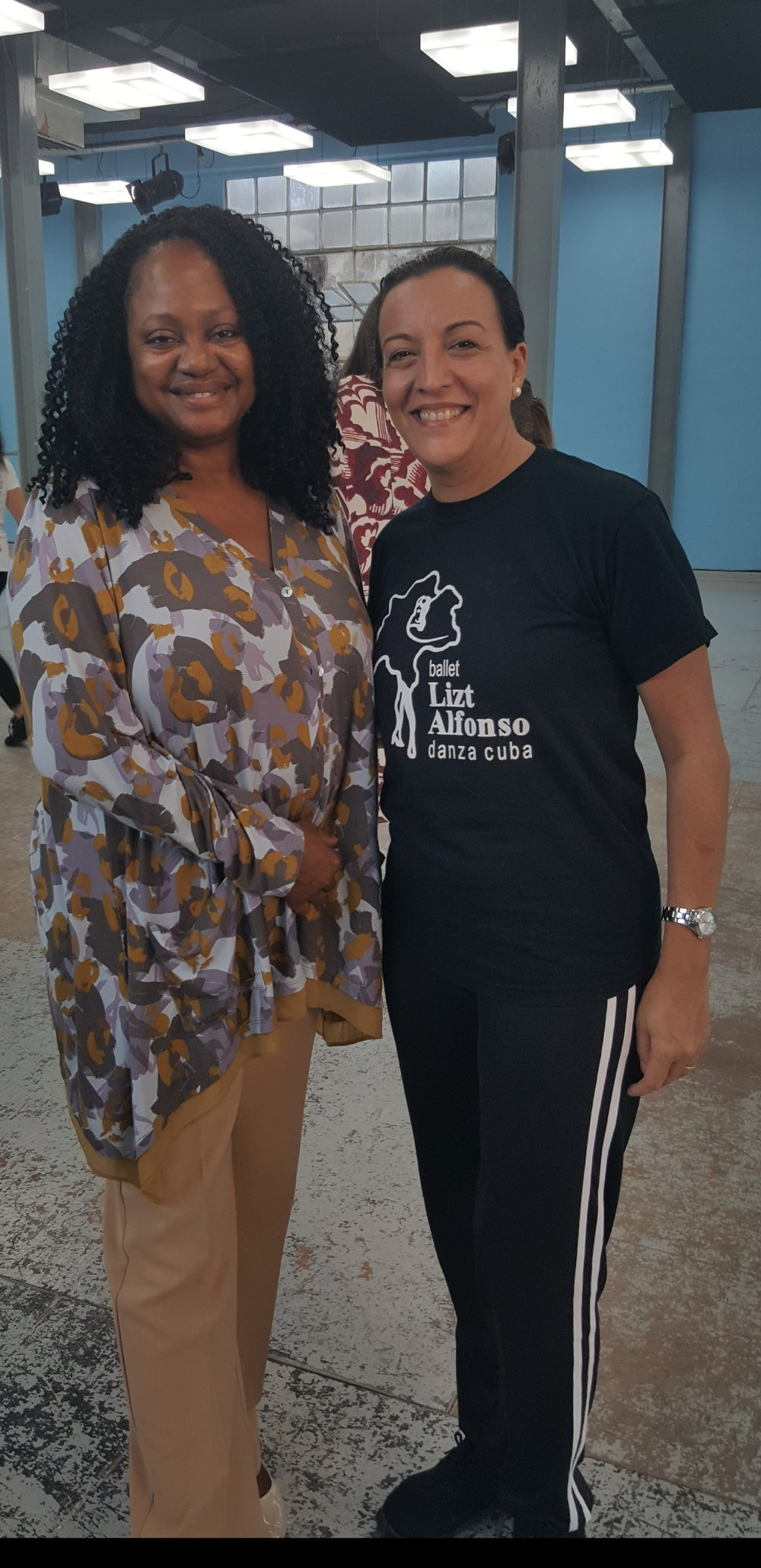 Amb. Jenkins, Founder and President of WCAPS, andLizt Alfonso in Cuba -