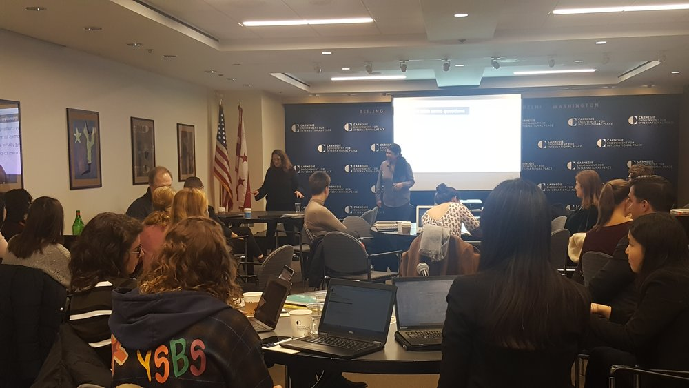 WCAPS ReThink Media Training during the Carnegie Conference on Nuclear Policy, March 13, 2019.