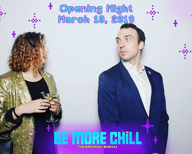 Opening Night photo booth fun feat. side-eye #AlwaysActing #ItsAWholeScene #BeMoreChill #OpeningNight #goldsequins