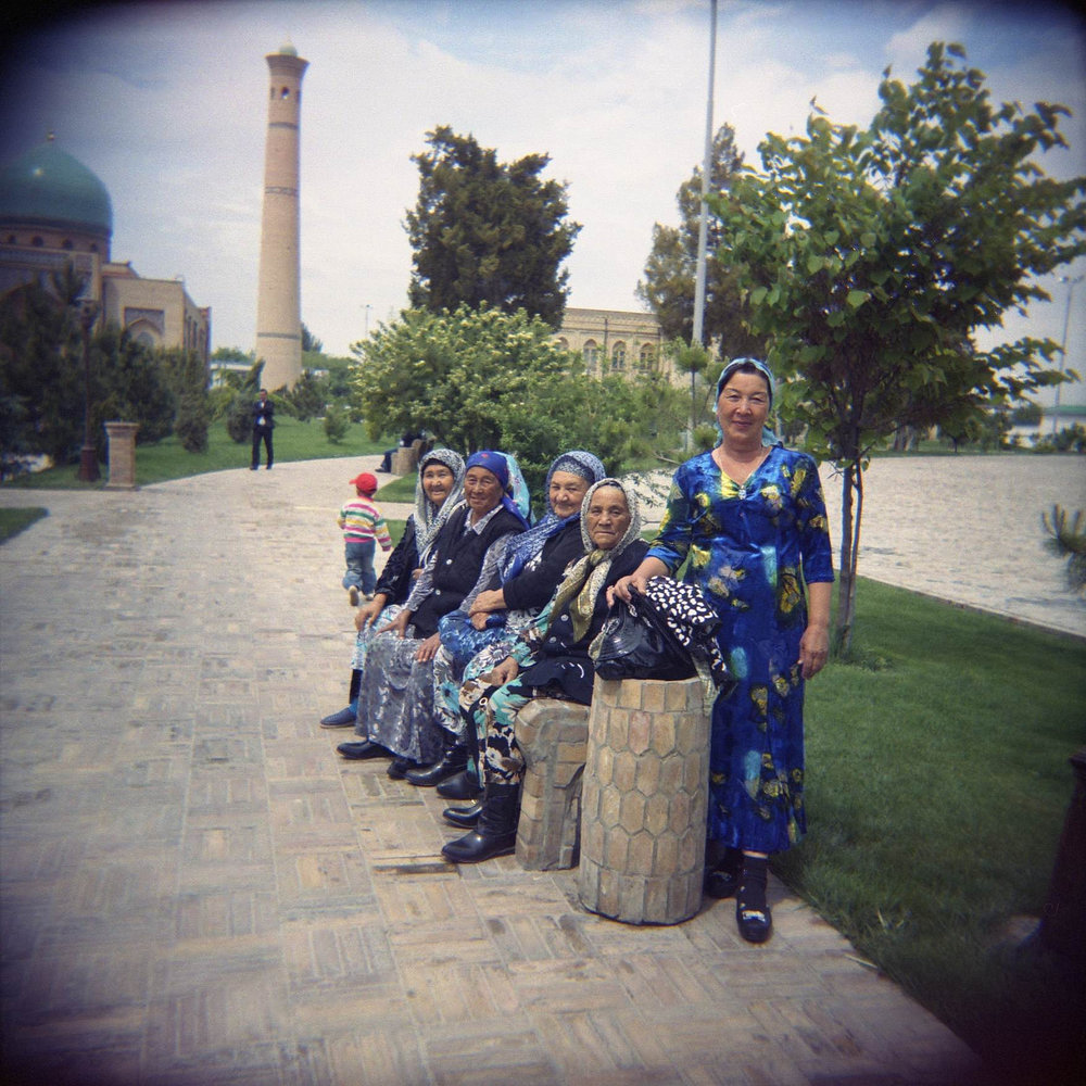 A funeral party in Tashkent
