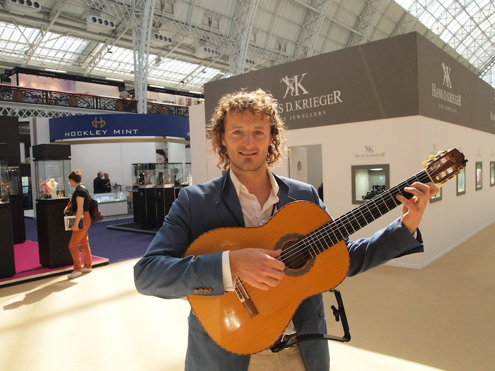 International jewellery london guitarist