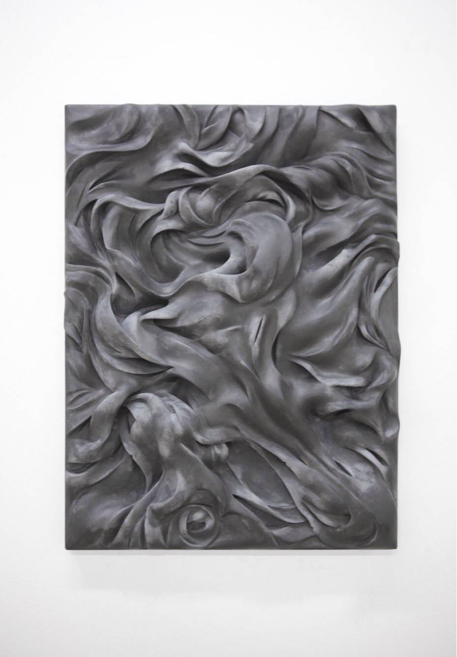 "Xavier Robles de Medina, ""In the realm of translation"", 2018, graphite and plaster, 44 x 33 x 6 cm"