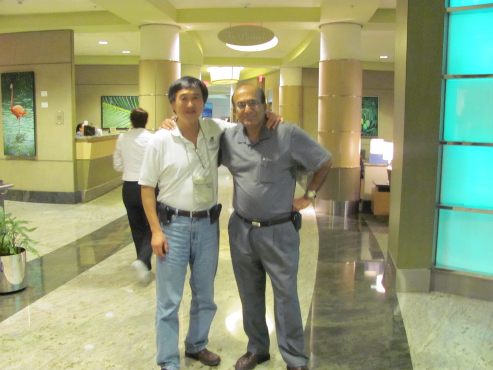 Dr. Soong and Dr. Lal at the end of their trip