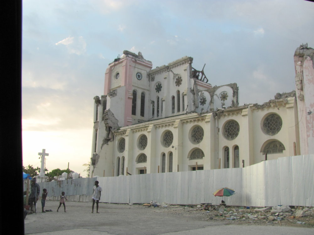 Catholic Cathedral in Port au Prince, a victim of the earthquake's destruction