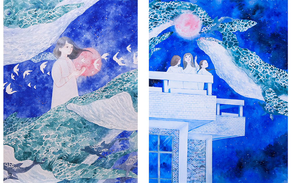 BLUE Ⅱ,Ⅲ -a song of whales-