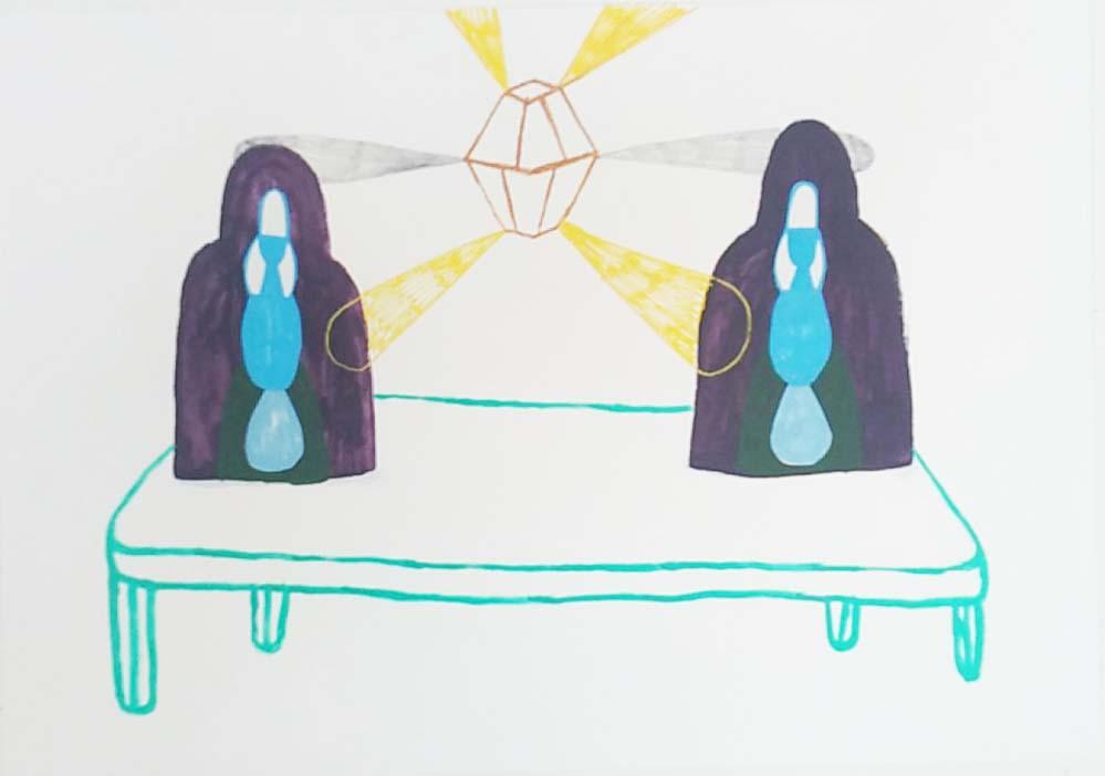 """Healing abandonment"" 50 x 72 cm. 2018"