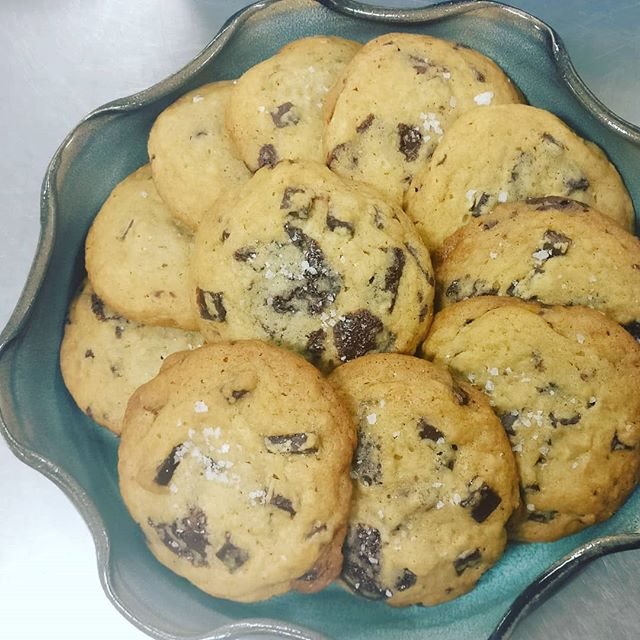 Salted chocolate chunk cookies all day :)