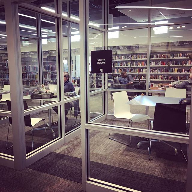 Grabbed a study room at the @aadlgram westgate and got my best work done for the week #founderlife #annarbor #libraries #pointsofpride