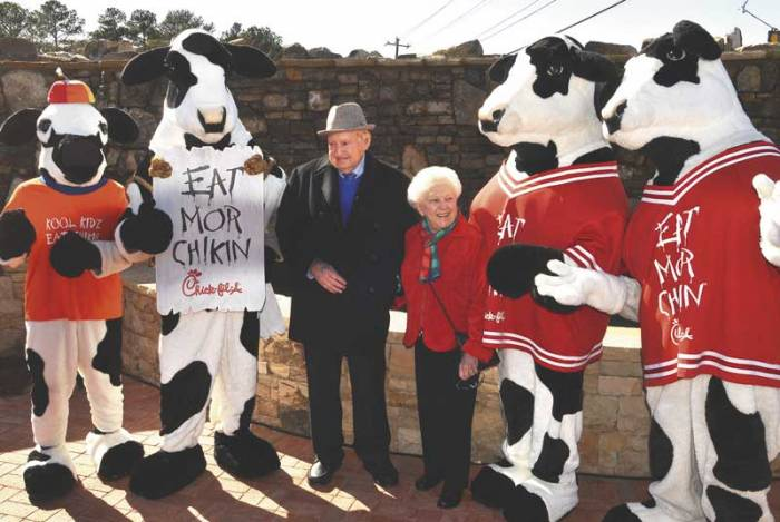 "Eat More Chicken: What I learned from the cows - BUSINESS || LEADERSHIP || INSPIRATIONTenacious. Persuasive. Bovacious. The Chick-fil-A Cows' simple, effective plea to ""Eat Mor Chikin"" is one of the longest running marketing campaigns in history. Trudy shares from her lifelong experience in the family business using unconventional leadership lessons from the beloved Cows, her father's legacy, and the story of Chick-fil-A."