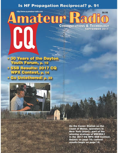 - The Radio Echo team is proud to make it to the front cover of the September 2017 CQ Magazine with the tower and antennas built by Ray and Robert.