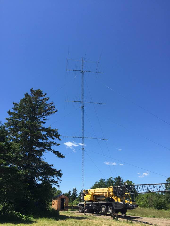 - Installed new 3EL 40M @ 140'