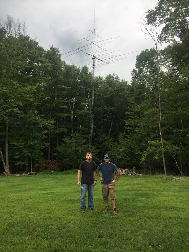 - Mike is back on the air! Installed Rohn 45 Tower and antennas at his new Hudson Valley Qth.