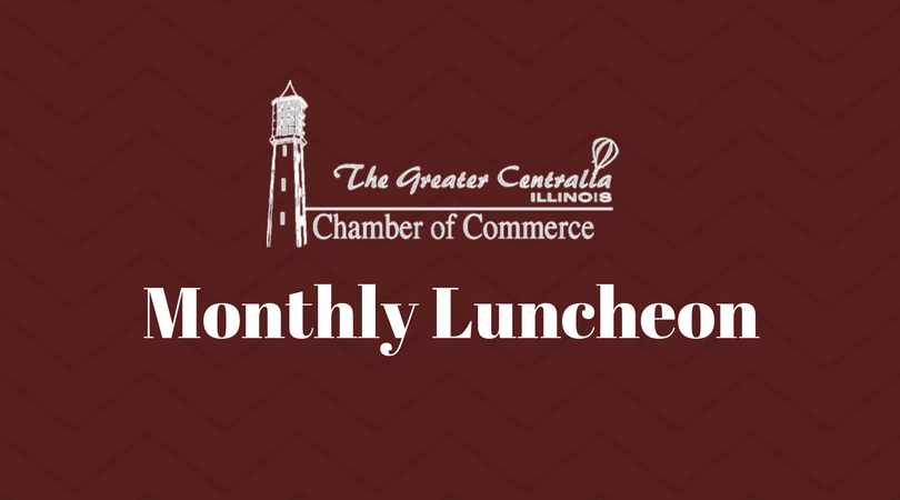 "You are invited to join us for our  January Monthly Membership Meeting   Wednesday, January 16, at 12:00pm at Orphan Smokehouse Restaurant, 1829 S. Pine St., Centralia.    Featured Presentation:   Highway 161 Closure and Marketing Our Community    ""Turning Lemons into Lemonade""     December Spotlight:   Kaskaskia College - George Evans, President     $10 per person.  RSVP Required.   (618) 532-6789 or  carol@centraliachamber.com     Pay at the Door - Cash or Check.  Note: If you RSVP and are unable to attend, you will be invoiced unless cancelled more than 24 hours in advance."