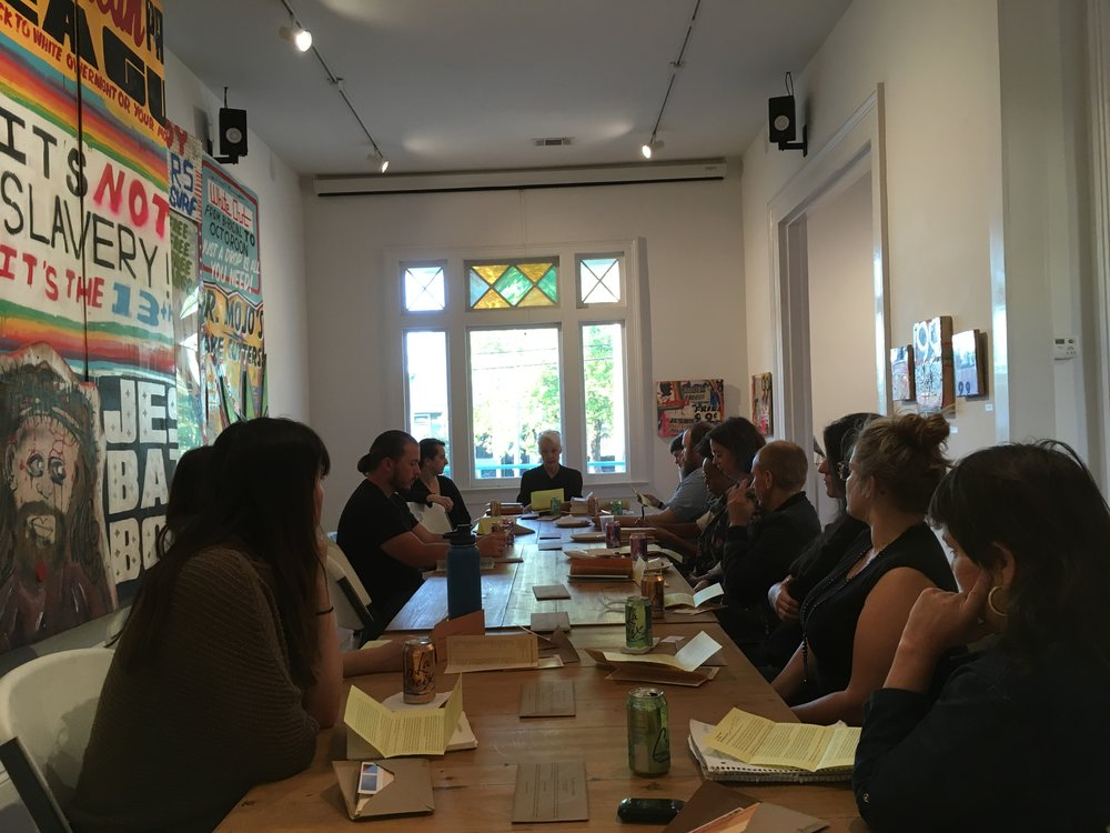 Public artist talk at AIR (April, 2018)
