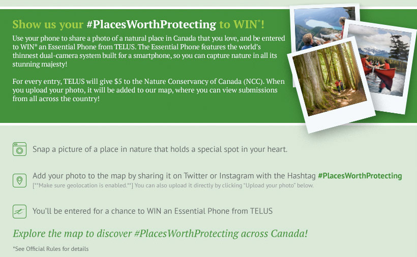 Show us your #placeworthprotecting to WIN*!
