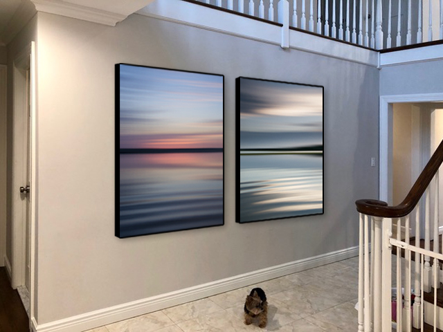 "40x60"" Vertical Diptych  /  Framed"