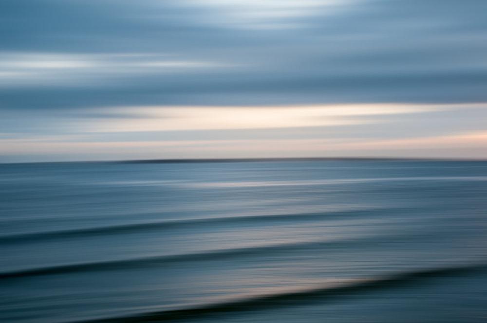 "Landscape Abstract 76838 Sullivan's Island Artist Proof 1/2 40x60"" Wenge Frame"