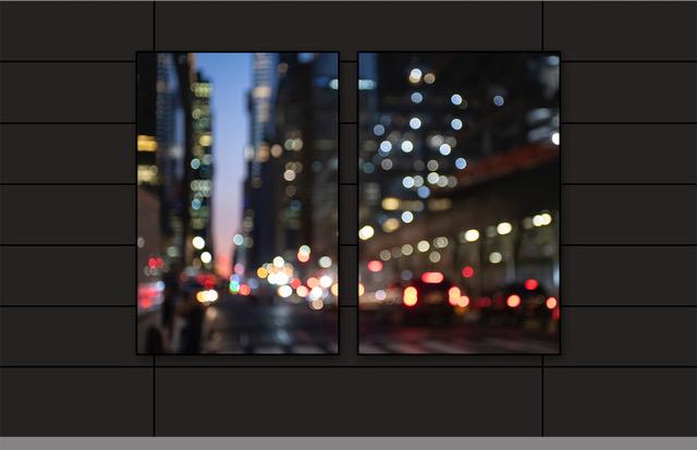 """42nd St / Grand Central Diptych #97640 40x60"""" each 1/5 dark walnut frame - Canvas"""