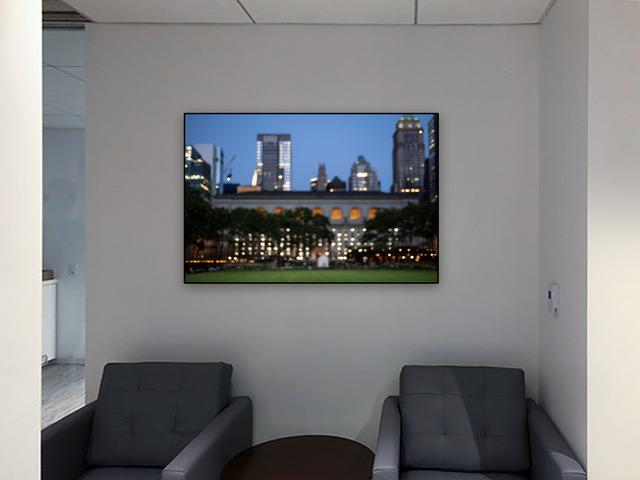 "Bryant Park #98258 32x48"" 1/5 dark walnut frame - Canvas"