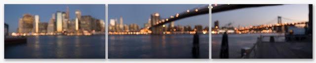 """Brooklyn Bridge Triptych #40240 30x55"""" each 1/5 no frame - Plexi"""