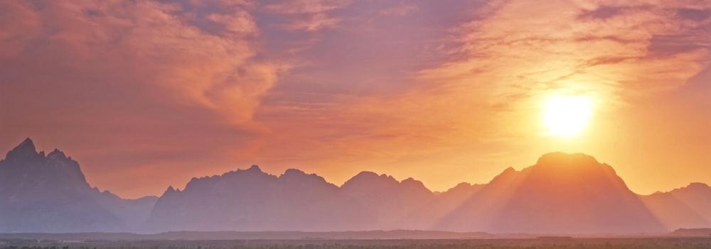 From the sagebrush flats, Grand Teton National Park, Wyoming, USA