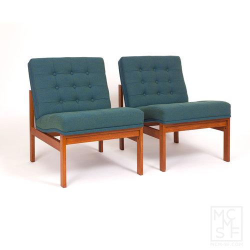 Pair of Vintage Easy Chairs designed by Torben Lind and Ole Gjørlev-Knudsen  for Fritz Hansen - Pair Of Vintage Easy Chairs Designed By Torben Lind And Ole Gjørlev