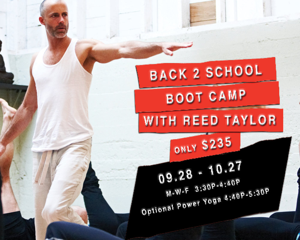 Back 2 School Boot Camp - with Reed Taylor